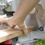 Holz Terrasse sägen