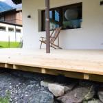 Terrasse Lärche selber bauen Vorarlberg